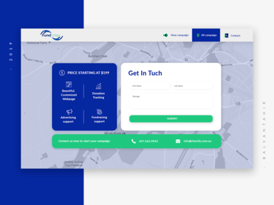Contact Page UI Design