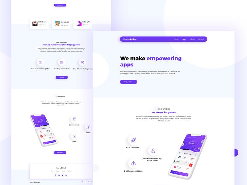 Company Landing page design   App Landing Page app design 2019 homepage design theme marketing uxdesign landing web design app ux ui template landing page app