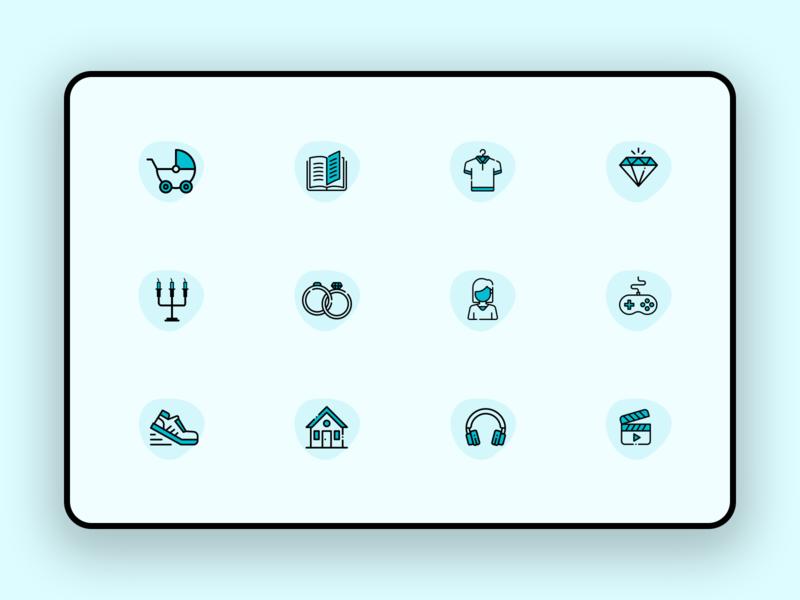 webapp icon design 2019 design app design shopping shopping icons icon design icon set icon app icon app