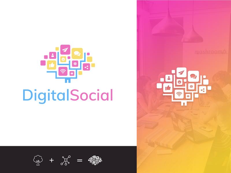 SocialMedia Marketing startup Logo Concept minimal symbol social logo social media design ui vector branding marketing agency socialmedia marketing logo design logo
