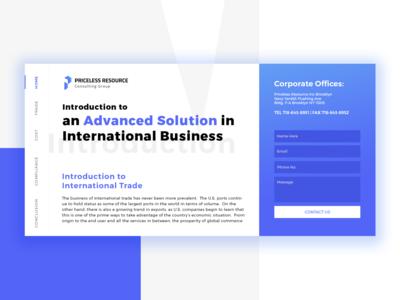 Homepage Design for Business website