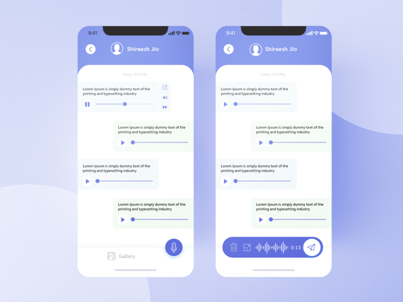 Voice Chat App UI Design Figma translate audio uidesign mobile text figma uiux ui chat app chat