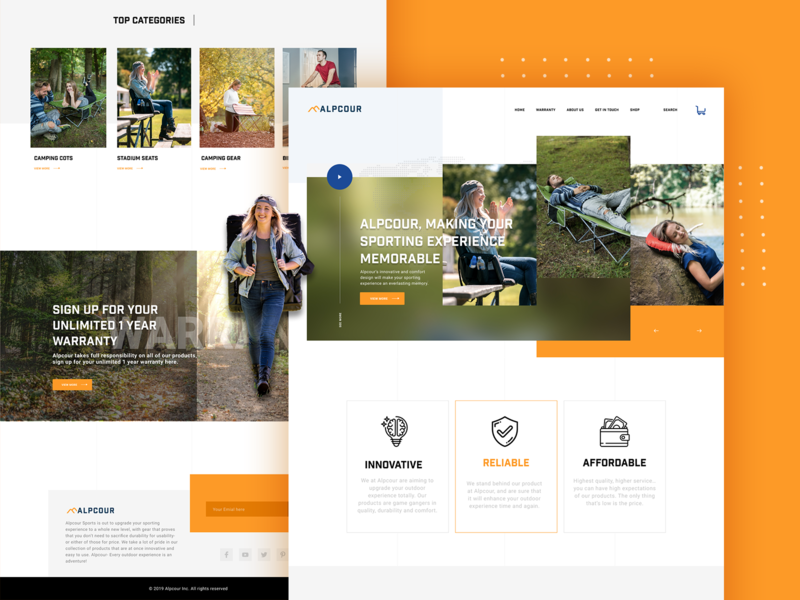 E-commerce Shopping Site for Outdoor Products elegant surat website site banner products shopping mountain forest tracking outdoor uiux ui ecommerce online store