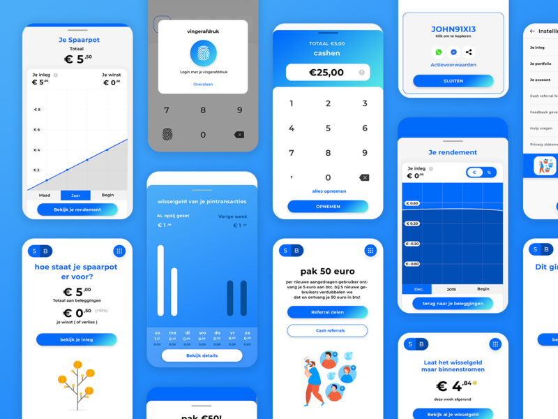 cryptocurrency Mobile App UI Design branding uidesign illustration currency bitcon cash analytics chart analytical money transfer money blue ios android mobile ui app mobile