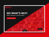 Netflix Landing Page - Alternate Design