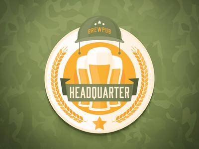 Headquarter Brewpub malt ribbon star brew headquarter beer brewpub