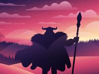 Odin's silhouette