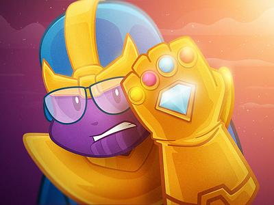 Nerdinho Thanos mashup thanos nerdstore illustration