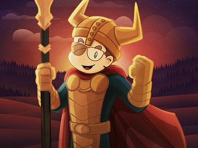 Nerdinho Odin warrior character odin jovem nerd nerdstore