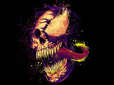 We Are Skull alternative version jovem nerd nerdstore illustration venom