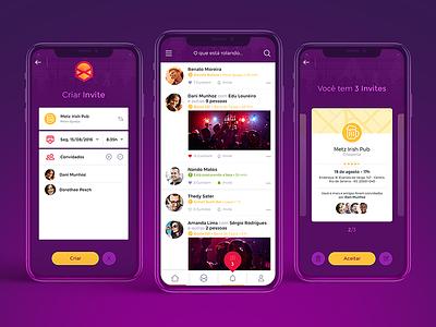 Invite App design interection ux ui design app