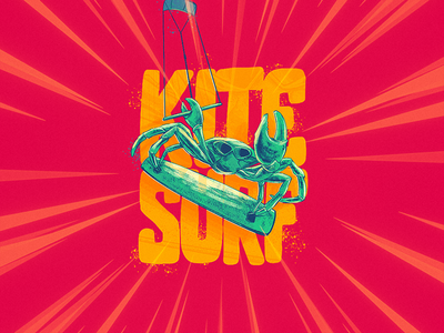 Kite Surf kitesurf surf illustration