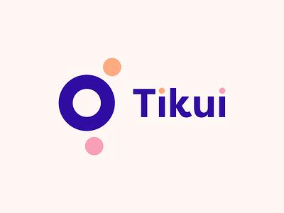 Tikui logo flat minimal vector typography logo branding web design ui illustration