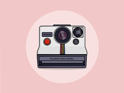 Polaroid camera webdesign flat icon pink ui design illustration camera polaroid