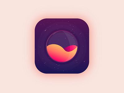 App icon - Daily UI #005 planet space galaxy web vector ui illustration uidesign icon app dailyui design