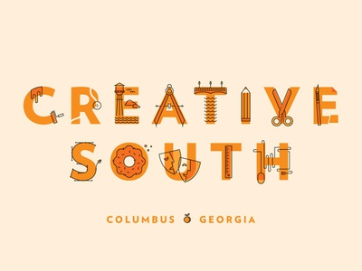 creative south creativesouth cs15 creative south illustration vector icons letters georgia