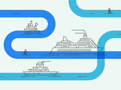 Oh Buoy! icon marketing product mailchimp tugboat ship boat illustration design