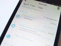 Dental app journal