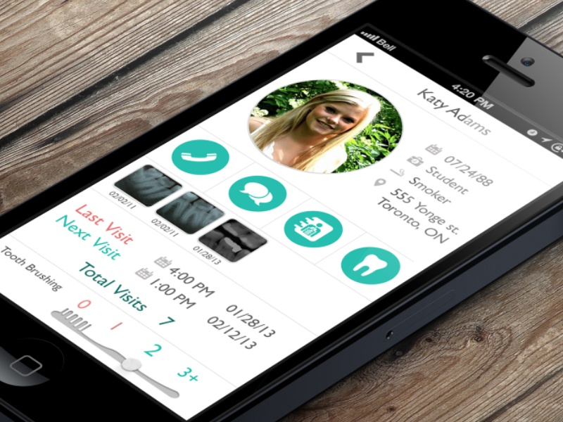 Dentist App dental iphone ios app application health business design page profile contacts wellness apple best medicine healthcare medical