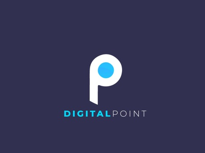 Digital Point branding illustration logo