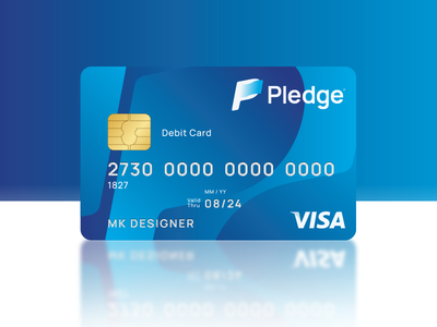 Pledge l Online Banking Card brand-strategy pledge-banking-app banking logo bank card bank app brand design design2020 trend pledge