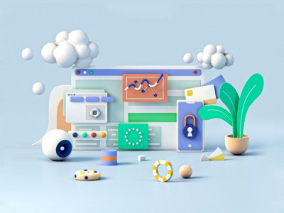 Illustration 1 graphicdesgn infographic website interface design app c4d 3ds max texture minimal interface ui ux web design 3d animation render landing page game isometric lowpoly 3d illustration