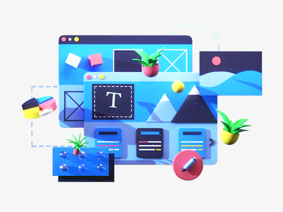Webiste optimization graphicdesign art 3dsmax rendering texture app interface gif video motiongraphics web design ui ux 3d animation render landing page game isometric lowpoly 3d illustration