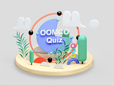 QUIZ interface texture icon graphicdesign motion tree layer homepage web webdesign ui ux building 3d animation render landing page game isometric lowpoly 3d illustration