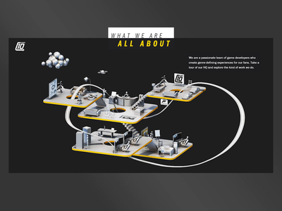 Turn 10 animation hero homepage landingpage web gif video animation motion graphics graphic design ui render landing page game isometric lowpoly 3d illustration