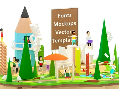 Vsual - crop 2 3d arhitecture 3d animation ui ux landing page render web design ios low poly game building isometric lowpoly illustration