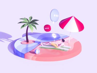 Chat everywhere - Beach