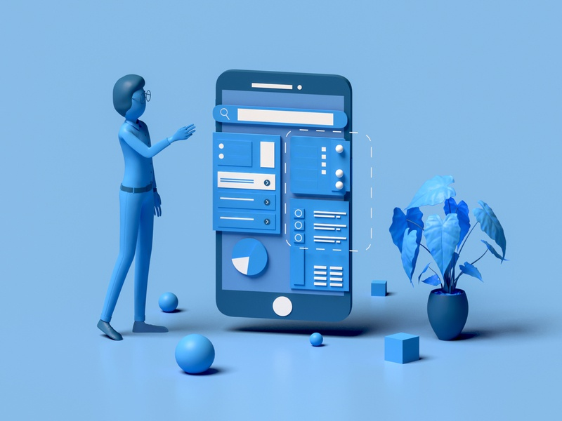 Search human character search uiux ui smartphone modelling webdesign layers homepage landingpage web render ui ux 3d animation vector landing page game isometric 3d