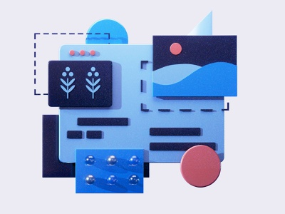 Easy to use ball user experience web redesign interface graphicdesign motion graphics rendering motion animation 3d animation ui ux render landing page building game isometric 3d lowpoly illustration