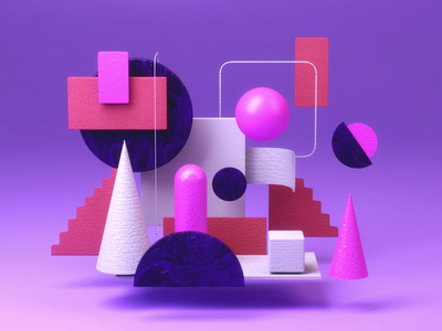 Abstract vray 3d modeling interface team motion design logo objects ball typography graphic design texture art direction video gif 3d animation ui ux landing page building game isometric lowpoly 3d illustration