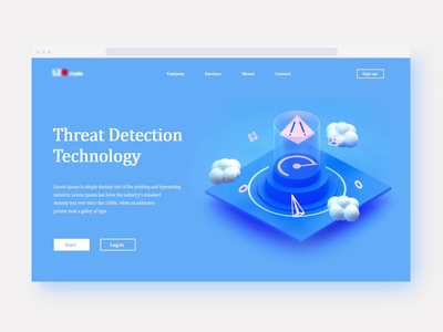 Threat Detection Technology user interface visual design user experience motion graphics web design tech logo branding vector team technology video graphicdesign motion render landing page game isometric lowpoly 3d illustration