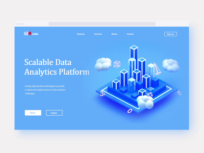Scalable Data Analytics Platform landingpage homepage icons app gif video motion graphic data logo branding web design vector 3d animation render landing page game isometric lowpoly 3d illustration