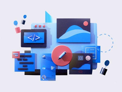 Services video gif motion 3danimation graphicdesign 3d animation logo design building landing page game isometric lowpoly 3d illustration