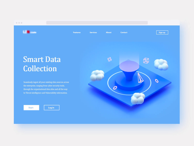 Smart Data Collection video app icon machine c4d 3ds max visual uiux web website web design data visualization video gif motion graphic 3d animation render game isometric lowpoly 3d illustration