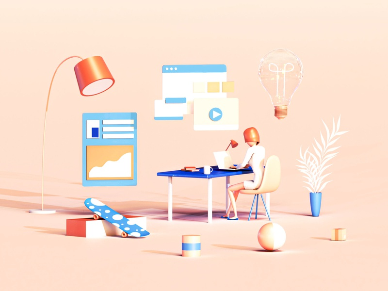 Innovation dashboard render interface web landingpage web design uiux building application user interface 3dsmax c4d 3d animation 3d design landing page game isometric lowpoly illustration