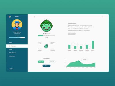 Poke Game Design fresh-design game-design pokemon user-experience user-interface