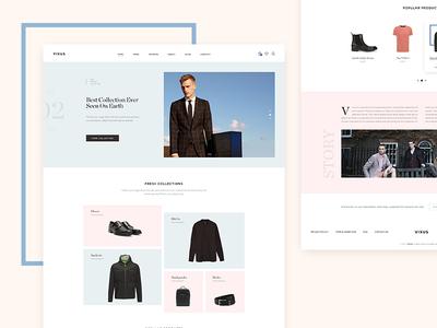 Fashion E-commerce Hompage homepage web fashion e-commerce user-experience user-interface
