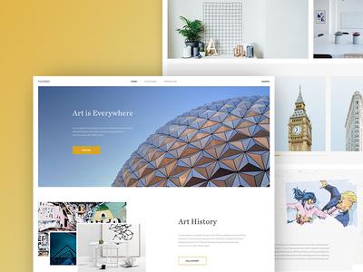 Art Homepage  clean modern web home homepage photos ux ui art