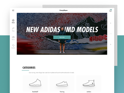 CrazyShoes Home icon line-art style illustration shoe shoes homepage web fashion e-commerce user-experience user-interface