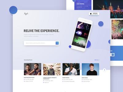 Amondo Imprint Page Exploration fresh app web music experience interface user