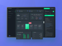 Project Manager Dashboard - night mode