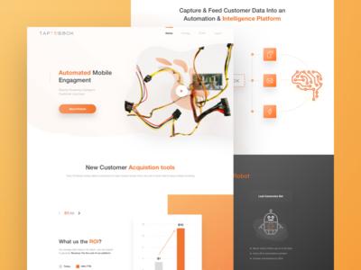 TapToBook _ Homepage design