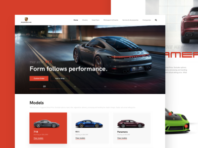 Porsche Website _ Homepage Redesign