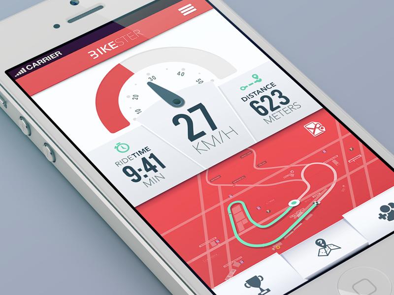 Bikester mine v.2 bike samborek app aplication iphone meter speedometer