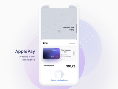 ApplePay Payment Redesign protopie address order wallet visa transaction money fintech finance pay panel bitcoin crypto credit card payment banking bank apple pay apple