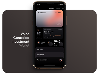 VUI Investment Wallet income blockchain balance card assistant voice payments portfolio bitcoin trading stock crypto invest vui